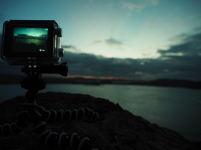 action camera con remote control
